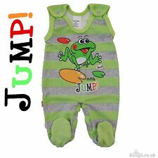 "*NEW* Baby Boys/Girls ""SUPER JUMP!"" *Playsuit *Babygrow* 100% Cotton!"