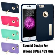 Kickstand Case Cover Hard Rubber Protective Skin for Apple iPhone 6 6S Plus Gift