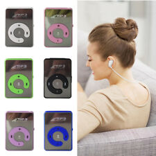Mini Mirror USB Digital Mp3 Music Player Support 8GB Micro SD TF Card +Earphone