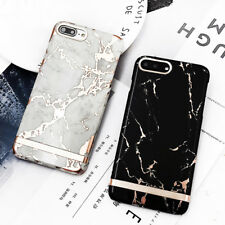 Luxury Marble Print Rose Gold Hard Plastic Phone Case For iPhone 8 + 7 6 6S Plus