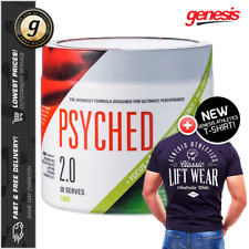 GenTec Psyched 2.0 *30 Serves* - Intense Pre Workout + Genesis Athletics Shirt!