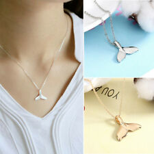 Silver Mermaid Tail Fish Nautical Charm Whale Tail Gold Necklace Jewelry Hot