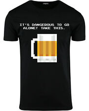 It's Dangerous To Go Alone! Take This Beer Mens 8 Bit Shirt