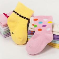 1Pair Baby Girls stockings thick Warm Cotton dots floor elastic Terry Socks