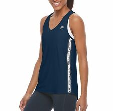 FILA Sport Womens  Side Taping Racerback Tank  TANK TOP Midnight Bliss S