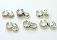 Toe silver adjustable rings set lovely designs 3 pieces. Toe decoration rings