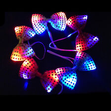 Sequins LED Necktie Light Up Bowtie Flashing Blinking Wedding Party Supplied