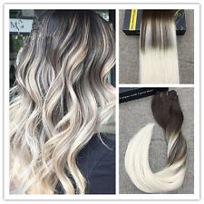 New Balayage Blonde Clip in Human Hair Extension European Extension 7pcs/100g