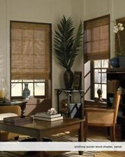 """Woven Wood Roman Shades, 36 to 38 Inches Wide, Any size from 18""""-72"""" Wide"""