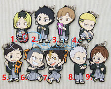 T119 Hot Japan anime haikyuu rubber Keychain Key Ring Rare cosplay limited