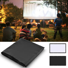 16:9 PVC Movie Projection Screen Curtain Projector Home Theater w/Hanging Hole L