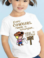 """New BABY Surprise ANNOUNCEMENT Tee Big SISTER """"Cowgirl, Wrangler"""" T-Shirt"""