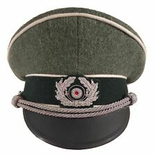 WW2 WWII German Wehrmacht Infantry Officer's Visor Cap. High Quality Repro!