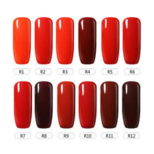 BELLE FILLE  Nail Art Gel Polish Varnish Soak-off UV&LED Salon 10ml Red Series