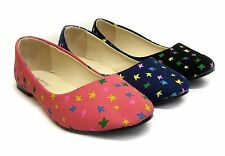 Womens Ladies Butterfly Flat Dolly Ballerina Ballet Pumps Loafer Boat Shoes Size