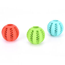 Rubber Ball Dog Chew Toy Chewing Ball Pet Toys Ball Tooth Cleaning Balls Food TS