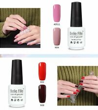 BELLE FILLE Nail UV Gel Polish Soak Off Art Manicure DIY LED Varnish Lacquer 8ml