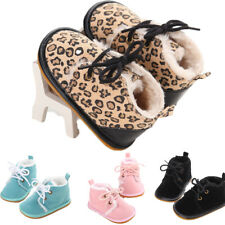 Cotton Shallow Baby Lace-Up Winter Warm Baby Girl Shoes Rubber First Walkers