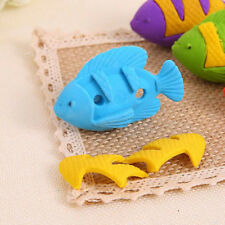 Students Cartoon Colorful Fish Rubber Stationery Kid Gift Toy Eraser