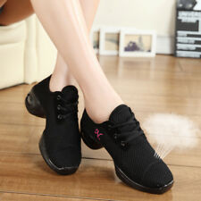 New Ladies Comfy Athletic Sneaker Jazz Hip Hop Square Dance Net Breathable Shoes