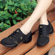 Women Comfy Jazz Hip Hop Dance Shoes Net Breathable Modern Athletic Sneakers
