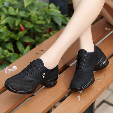 Women New Comfy Modern Dance Shoes Net Breathable Cool Jazz Athletic Sneakers