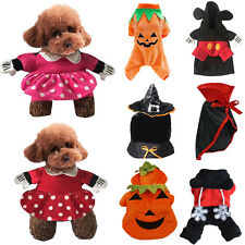 Pet Dog Mickey Minnie Clothes Puppy Halloween Party Cosplay Fancy Dress Costume