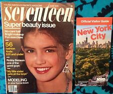 Seventeen magazine June 1970's Fashion Modeling Young Miss W 70's Beauty Teen Ad