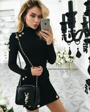Autumn Fashion Wear Rivet Decorated Hollow Out Dress for Women