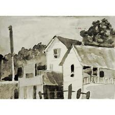 Delightful Village Grisaille Watercolor