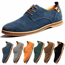 New Mens Business Suede Dress Shoes Casual Oxfords Leather Shoes Formal Size 12