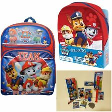 """NEW Nickelodeon Paw Patrol 16"""" Lunch Bag Large School Backpack Free Shipping!"""