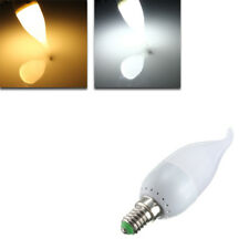 New E14 3W White Warm White LED Candle Flame Light Chandelier Bulb AC 220V