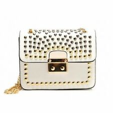 Casual Fashion Cross Body Pu Leather Rivet Decorated Shoulder Bag For Women