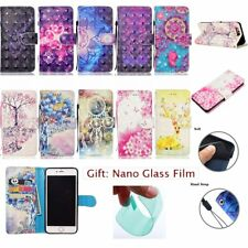3D HYBRID Wallet Card Slot Stand Leather Flip RUGGED Cover Case For Apple iPhone