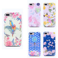 LUXO Luminous Flowers Patterned Soft Bumper Hard Back Case Cover Skin For iPhone