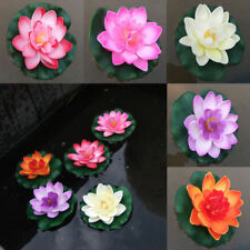 1x Plant Decor Fake Lotus Water Lily Float Flower Artificial Yard Pond