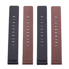 Genuine Leather Replacement Wrist Watch Strap Band With Stainless Steel Buckle