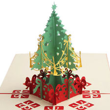 3D Pop Up christmas tree Greeting Cards Christmas  Gift cards
