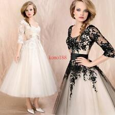 Women Wedding Dress Lace Prom Ball Cocktail Party Bridal Formal Evening Gown New