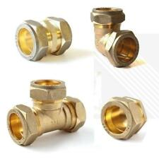 Brass Compression Fittings Elbow-Tee-Straight- Coupling-End cap