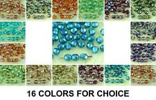 40pcs Round Faceted Fire Polished Spacer Czech Glass Beads 6mm