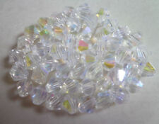 free shipping Wholesale! Lot 4-6-8mm Transparent AB crystal 5301# Bicone Beads