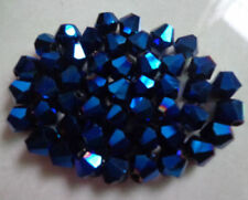 free shipping Wholesale! Lot 4-6-8mm Deep Blue AB crystal 5301# Bicone Beads
