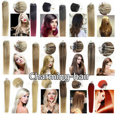 """Easy Micro Ring Beads Loop Tip Remy Human Hair Extensions 1g/s7A 16"""" 18"""" 20"""" 22"""""""