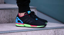 ADIDAS ORIGINALS ZX FLUX RUNNING SHOES MENS BLACK SOLAR GREEN B34490
