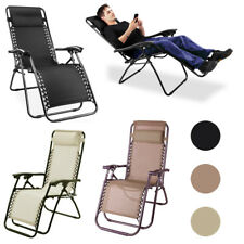 Adjustable Garden Sun Loungers Folding Chairs Bed Outside Patio Recliners Seater
