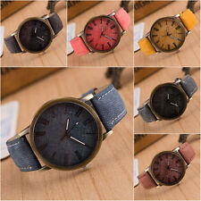 New Fashion Leather Analog Bracelet Quartz Cowboy Wrist Watch Jewelry Men Women