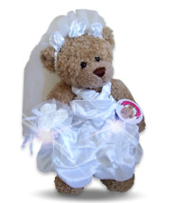 Teddy Bear Clothes fits Build a Bear Teddies Wedding Bride Bridesmaid Dress Long