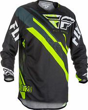 Fly Racing Mens Youth Black/Hi-Vis Yellow Evolution 2.0 Dirt Bike Jersey MX ATV